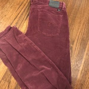 "Lucky Brand ""lolita skinny"" wine color cords - 6"
